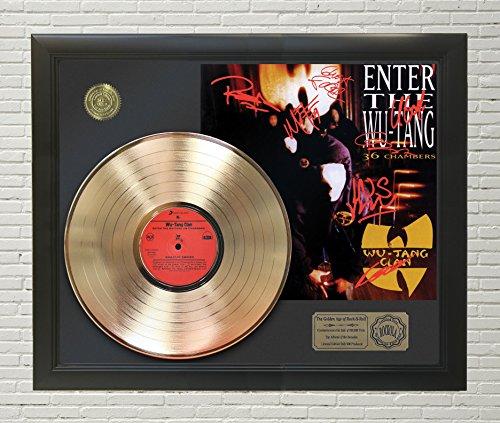 "WUTANG - ENTER THE WUTANG FRAMED GOLD LP Reproduction SIGNATURE DISPLAY""M4"""