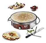 Waring Commercial WSC160X Heavy-Duty Electric Crepe Maker, 16'', Stainless Steel