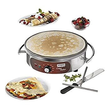 Image of Home and Kitchen Waring Commercial WSC160X Heavy-Duty Electric Crepe Maker, 16', Stainless Steel