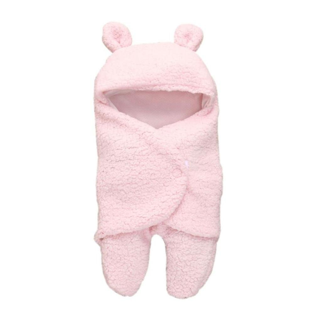 Baby Swaddle, SHOBDW Baby Boy Girl Cute Sleeping Wrap Bath Blanket Photography Prop Quilt Newborn Infant Gifts (0-1 Years, White)