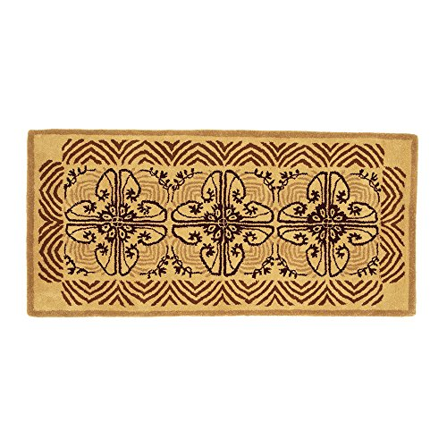 Minuteman International Art Deco Classic Wool Hearth Rug, Cocoa
