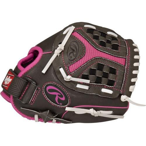 Rawlings 社製 ソフトボール用グローブ Storm Youth シリーズ B01H723A1Y Grey Pink 10 Worn on Left Hand Grey Pink 10