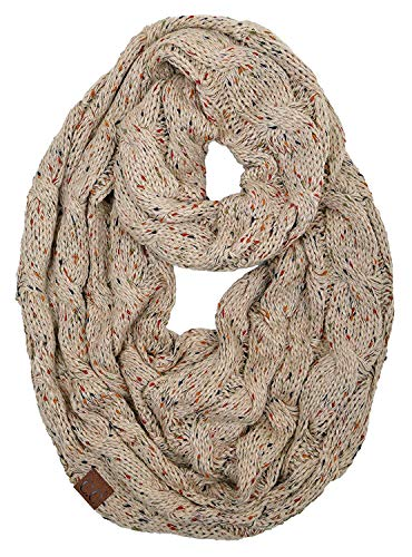 S1-6033-89 Funky Junque Infinity Scarf - Latte (Confetti)
