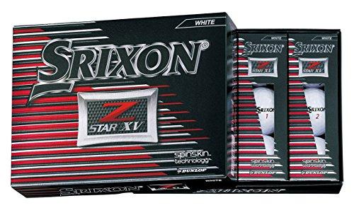 [해외] DUNLOP(던롭) 골프 볼 SRIXON Z-STAR XV 골프 볼 2017년 모델 1다스(12개 들이) 화이트