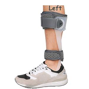AFO Brace Medical Ankle Foot Orthosis Support Drop Foot Postural Correction Brace (Left/L)