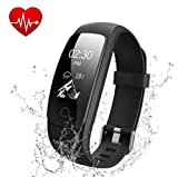 DBPOWER Fitness Tracker HR Activity Tracker with Heart Rate Monitor - Built-in Charger IP67 Waterproof Smart Bracelet with Step Tracker Sleep Monitor Calorie Counter Pedometer Watch for Android and IOS