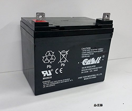 (2) 12v 33ah for BA?TTERY,CHAUFFER MOBILITY,C SERIES,MWD,VIVA?,PC by CASIL