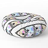 Society6 Movie Stripes Floor Pillow Round 30'' x 30''