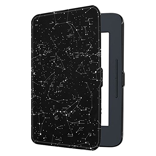 Fintie Nook GlowLight 3 SlimShell Case, Ultra Thin and Lightweight PU Leather Protective Cover for Barnes and Noble Nook GlowLight 3 eReader 2017 Release Model BNRV520, Constellation (Nook Simple Touch Case)