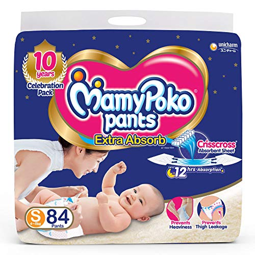 MamyPoko Pants Extra Absorb Diapers Small 84 Pieces