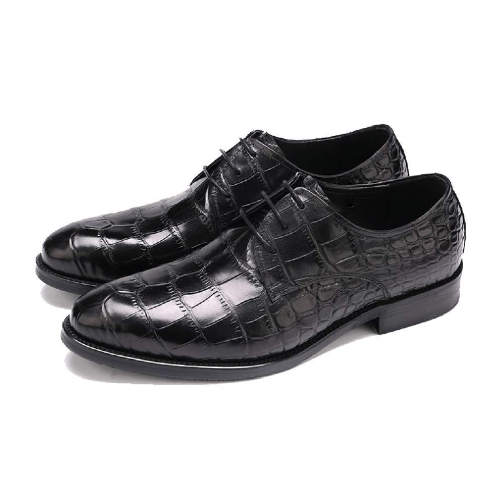 Geschäft Britische Niedrige Art Zeigte Lederne Schuhe Der Männer Schnürschuhe Niedrige Britische Spitzenschuhe Fashion schwarz fa23ec