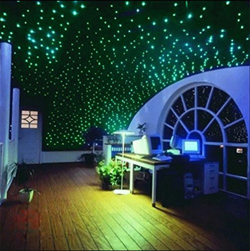 [400pcs Glow In The Dark 3D Stars Moon Stickers Bedroom Home Wall Room Decor DIY] (Things That Start With Letter I)