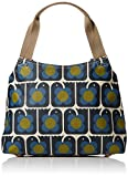 Orla Kiely Love Birds Print Classic Zip Shoulder Bag, Navy
