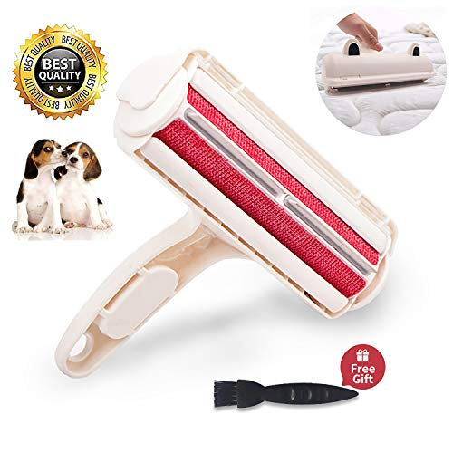 Sukeen Pet Hair Remover,Link Rollers for pet Hair, with Self-Cleaning System, Lightweigh, Perfect for Furniture, Clothing and Bed Cleaning (White) (Best Pet Hair Roller)