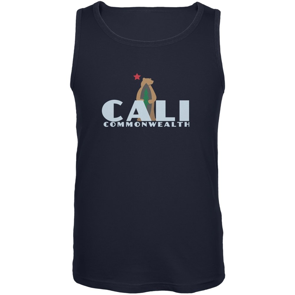 CALI Surf Bear Navy Adult Tank Top