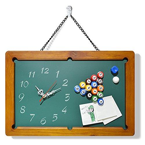 C&L レトロ壁時計、多機能壁の壁時計ビリヤード小型黒板メッセージボードサイレントウォールクロックカフェバーウォールクロックホームウォールデコレーションウォールクロック48 * 31センチメートル ( サイズ さいず : 48*31cm ) B07BHFHTZS48*31cm