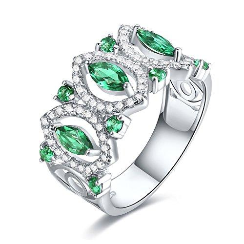 Genuine Created Emerald Solitaire - 9