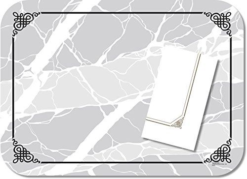 - Dinex DX5320MNS Wax Coated Paper Marbled Elegance Non-Skid Tray Cover with Straight Edge/Round Corner, Size M, 18.75