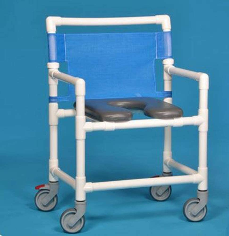 B00SP2OZN8 IPU VL OF9250 OS Oversize (Extra Wide) Rolling Shower Commode Chair 400 LBS Capacity (Blue) 51qonZc3KuL.SL1000_