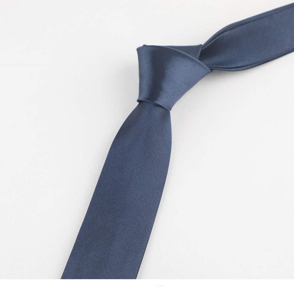 smilecstar Corbata para Hombre de 5 cm de Ancho 145 * 5 cm Azul ...