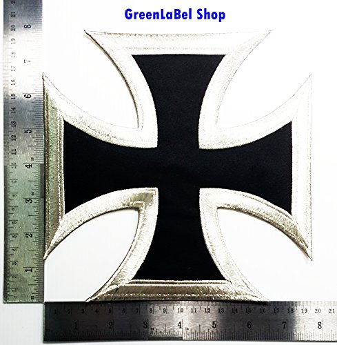 Big Large Jumbo Cross Christian Jesus Motorcycle biker club Patch Logo Sew Iron on Embroidered Appliques Badge Sign Costume Send Free - Delivery Oo Free
