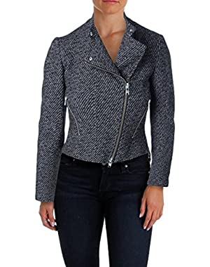 Theory Womens Kinde Knit Cropped Jacket