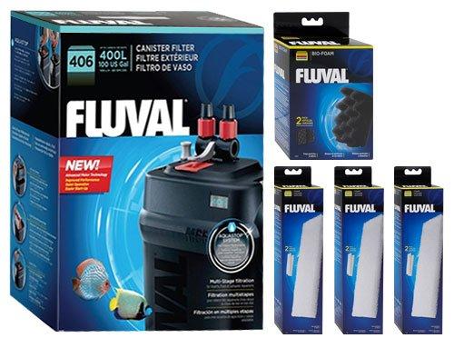 Fluval 406 A217 Filter w/ Foam & Bio-Foam 12mo by Fluval