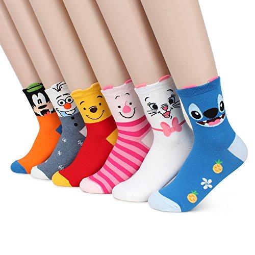 Kiki Choice !! Disney Pixar Characters Set Socks with Intype Pouch (Crew (Pooh Socks)