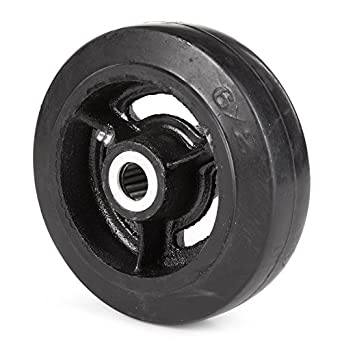 "Wesco 108838 6 ""Diámetro hierro fundido centro rueda de goma moldon, 400-"