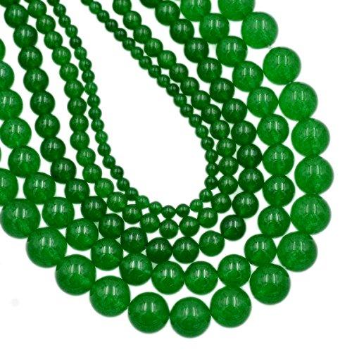 (AD Beads Smooth Natural Gemstone Round Loose Beads 15