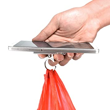 Báscula de pesaje electrónica, 0~10 kg Mini Multifuncional LCD Digital portátil portátil para Colgar Equipaje Pesado Escala de Gancho Plata Free Size: ...