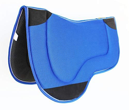 CHALLENGER Western Horse Saddle PAD Endurance Neoprene Tacky Tack Antislip Memory Blue 3977