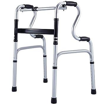 Andador plegable multifunción de aluminio ligero, altura ...