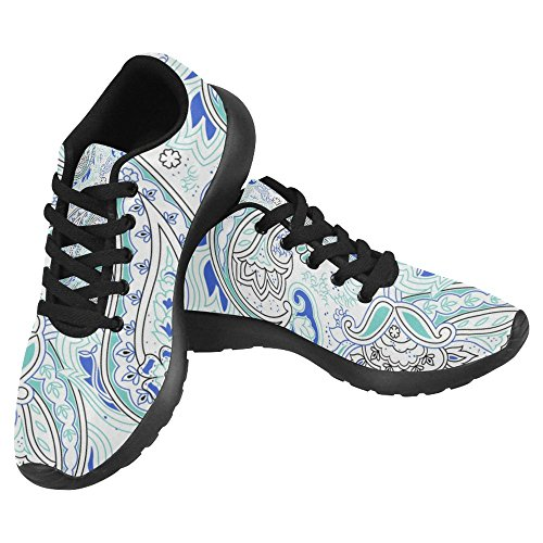 Interessante Womens Jogging Running Sneaker Leggero Go Easy Walking Casual Comfort Scarpe Da Corsa Bellissimo Vintage Paisley Pattern Floreale Multi 21