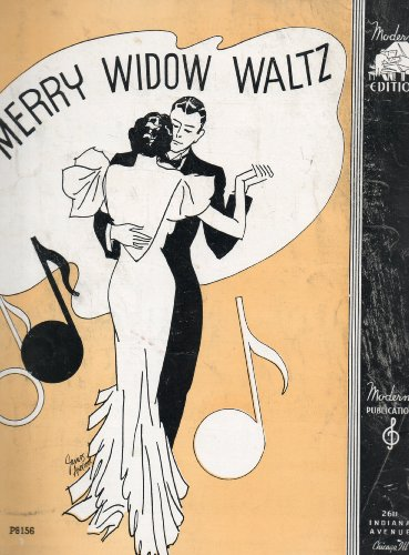 Vintage Piano Solo Sheet Music: THE MERRY WIDOW (WALTZ) (Moderne Edition,, ()