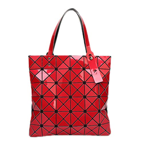 Bag Japanese Diamond Shopping Lattice 15 Geometric Red Color Women's Folding 8ZqnnA6v