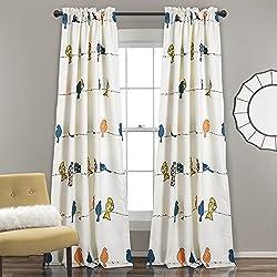 "Lush Decor Room Darkening Window Curtain Set, Panel 84"" x 52"", Multicolor"