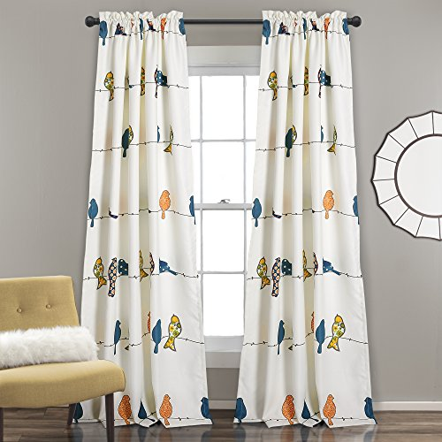 Lush Decor Room Darkening Window Curtain Panel Set, 0, Multi