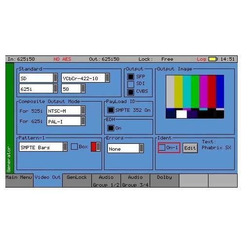 PHABRIX PHSXO-GEN Signal/Tone Generator Software for PHSXTAG