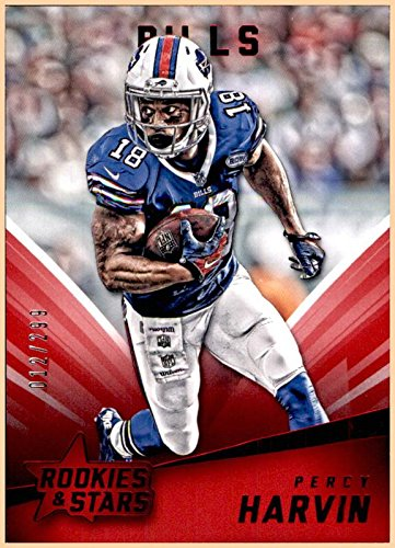 PERCY HARVIN BUFFALO BILLS 2015 ROOKIES AND STARS RUBY RED #3 SERIAL #12/299 FLORIDA GATORS