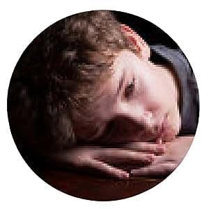 alfombrilla de ratón adolescente triste - ronda - 20cm