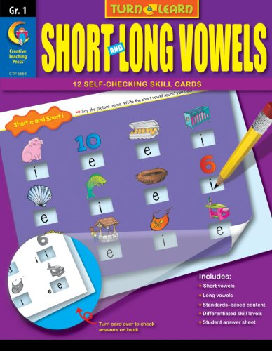 Short and Long Vowels, Turn & Learn Gr. 1