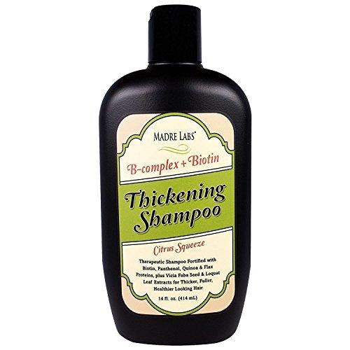 (Madre Labs Thickening B-Complex Biotin Shampoo No Sulfates Citrus Squeeze 14 fl oz 414 ml)