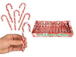 "24 Pack 5.5"" Candy Canes - Peppermint Candy Canes - Santa's Cane"