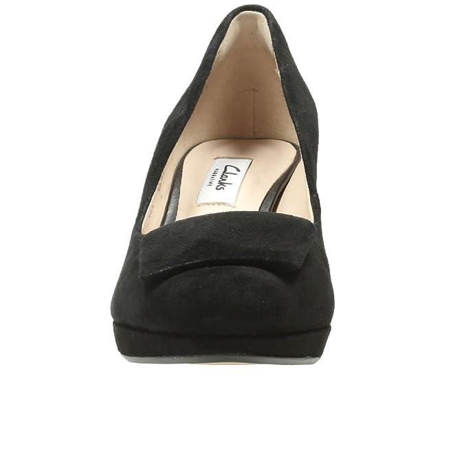 Soirée Clarks Chaussures En Daim Gem Kelda Taille Femme Noir