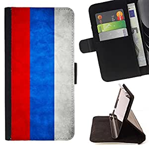 Momo Phone Case / Flip Funda de Cuero Case Cover - Nación Bandera Nacional País Rusia; - Motorola Moto E ( 2nd Generation )