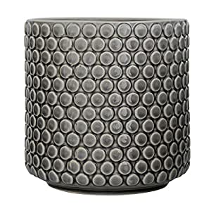 Bloomingville A75102022 Home Accessories Grey Ceramic Flower Pot