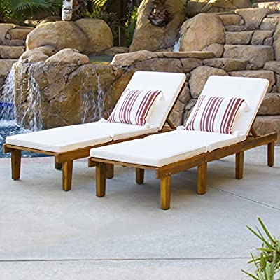 Best Choice Products Outdoor Patio Poolside Furniture Set of 2 Acacia Wood Chaise Lounge - Chaise lounge set is certain to add a touch of old-fashioned appeal to your backyard setting Allows you and a friend or family member to lay out and enjoy each other's company by the lawn or pool for hours Includes 2 chaise lounge chairs constructed with Acacia wood, with weather-resistant nylon cushions to promote durability - patio-furniture, patio-chairs, patio - 51qorBA1kIL. SS400  -