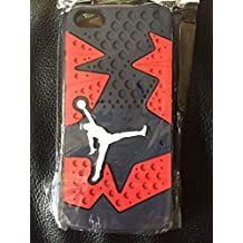 Michael Jordan vi Black/Red iphone 5 5s Silicone Skin Case Rubber Feels & Looks Like the Sneaker Sole Thin **SHIPS FROM USA** wangjiang maoyi