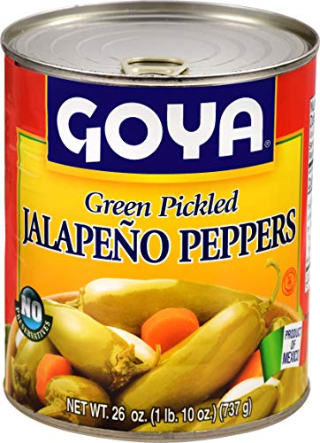 Goya Jalapeno Peppers Whole, 26-Ounce (Pack of 12)